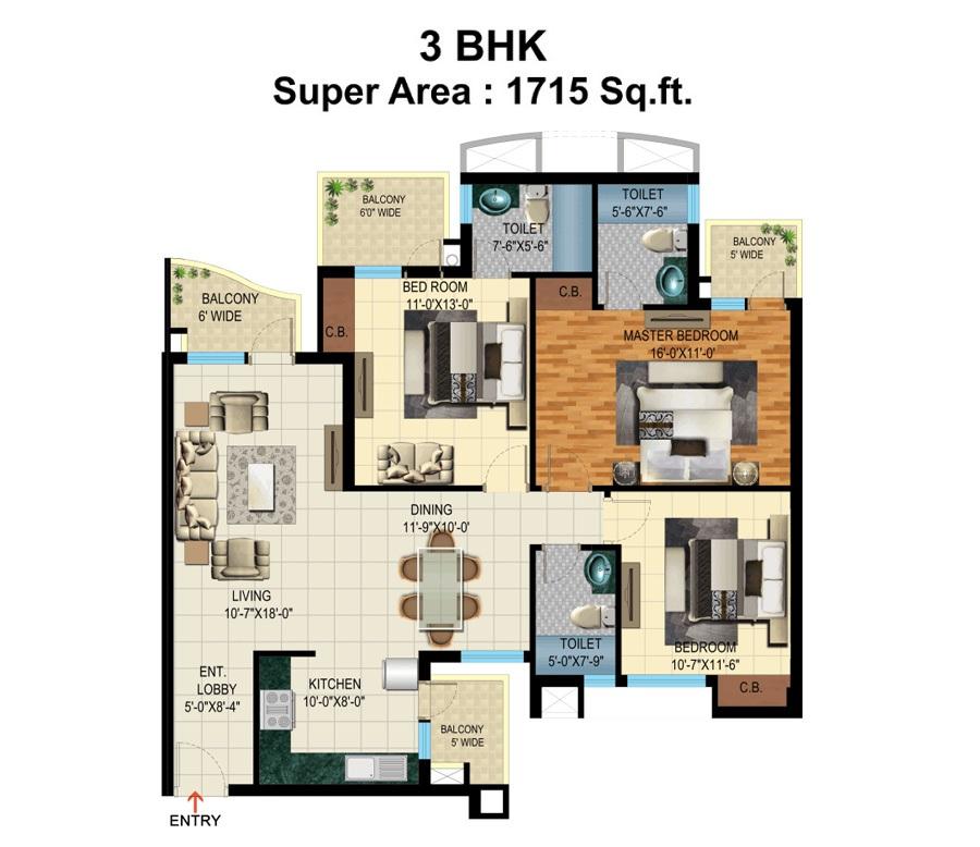 pardesi ushay tower apartment 3 bhk 1715sqft 20213325113328