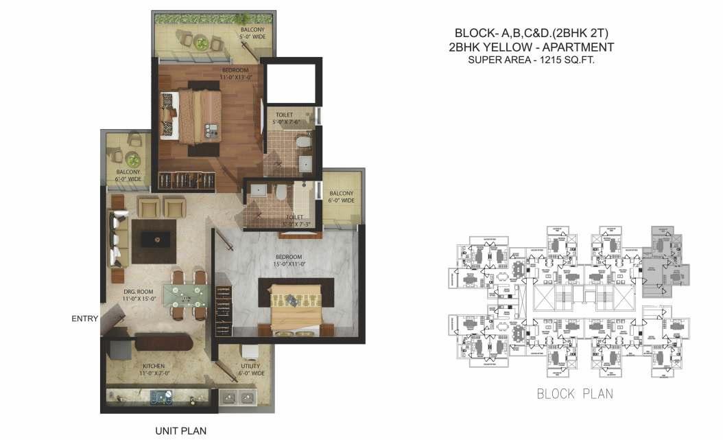 parker white lily apartment 2 bhk 1215sqft 20214312124350