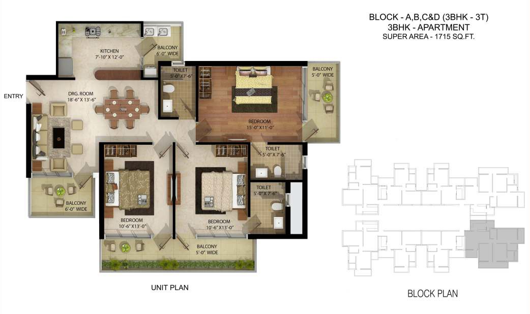 parker white lily apartment 3 bhk 1715sqft 20214412124401