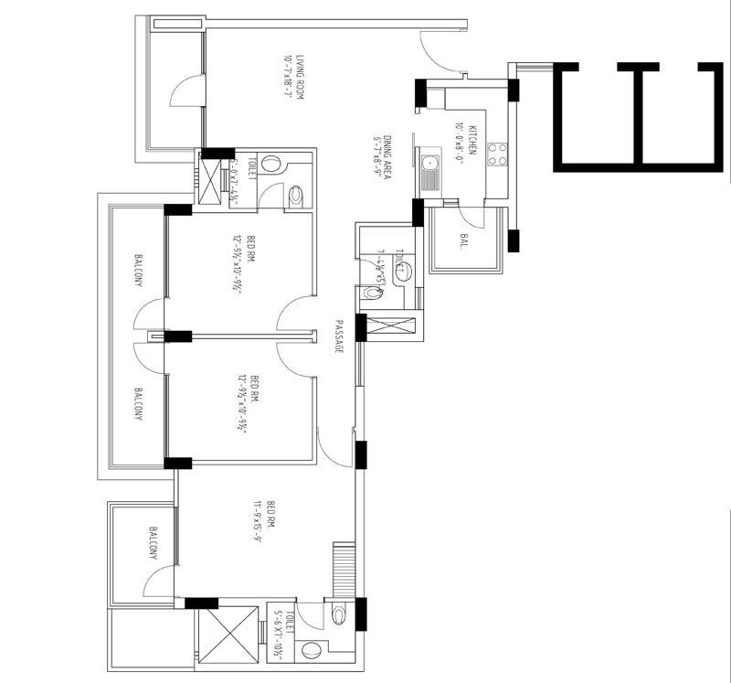 tdi city kingsbury apartment 3 bhk 1625sqft 20212226152251