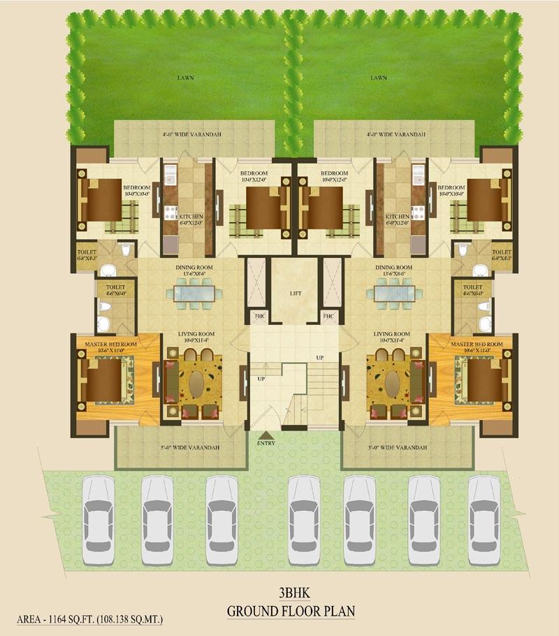 tdi tuscan city apartment 3 bhk 1164sqft 20215126145137