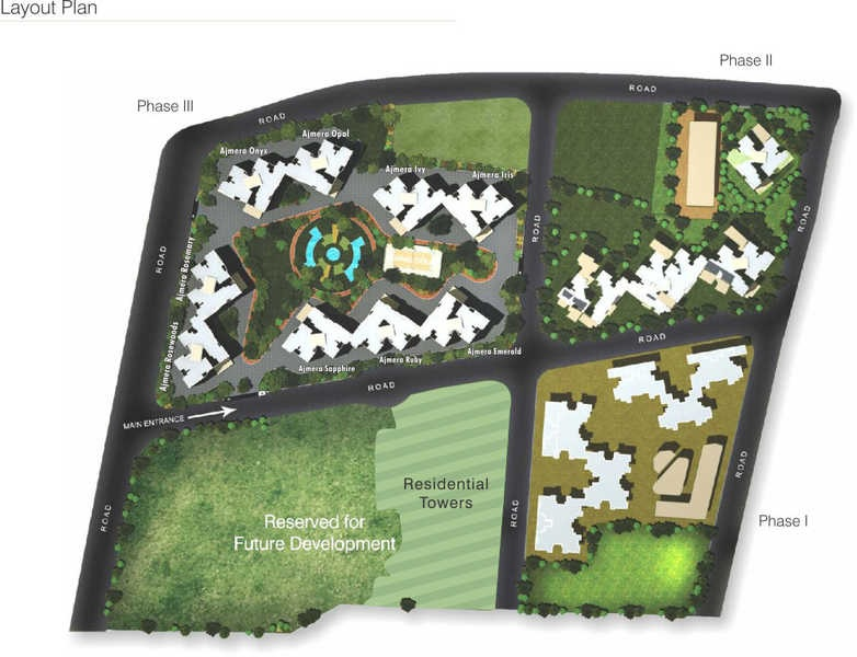 ajmera yogidham sapphire project master plan image1