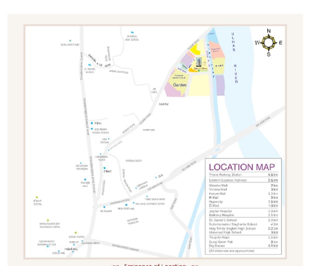 kalpeshwara pinnacle gloria project location image1