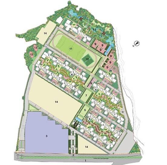 lodha amara wing 40 and 41 master plan image5