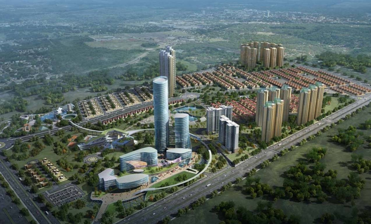 lodha upper thane magnolia a b and c  project tower view1