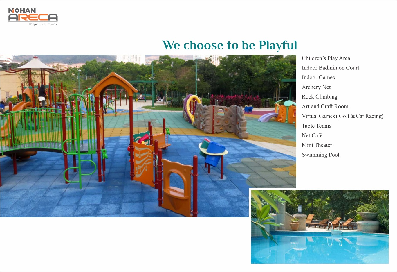 mohan areca project amenities features1
