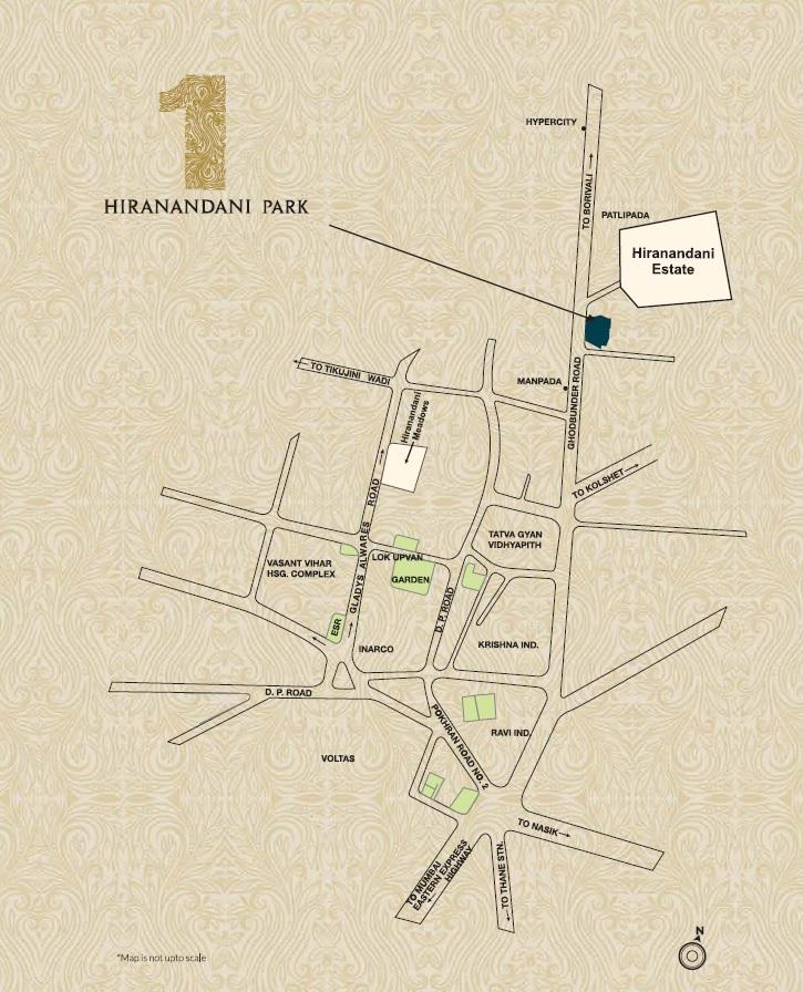 one hiranandani park hampton project location image1