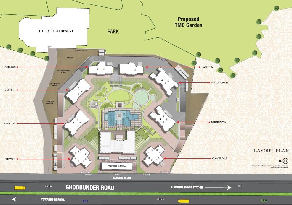 one hiranandani park hampton project master plan image1
