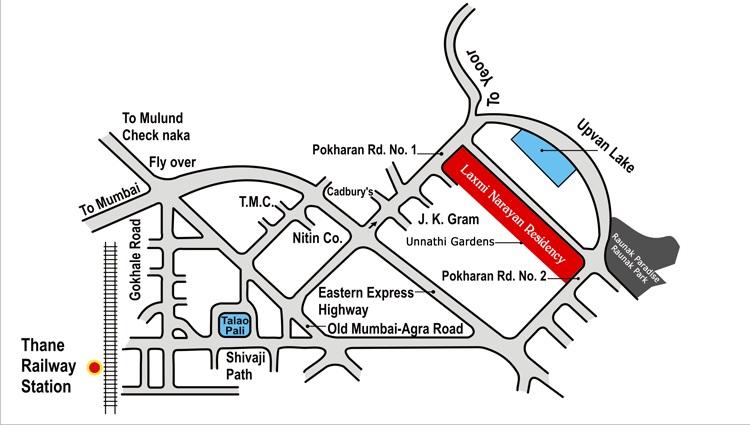 raunak laxmi narayan residency project location image1