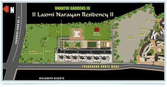 raunak laxmi narayan residency project master plan image1