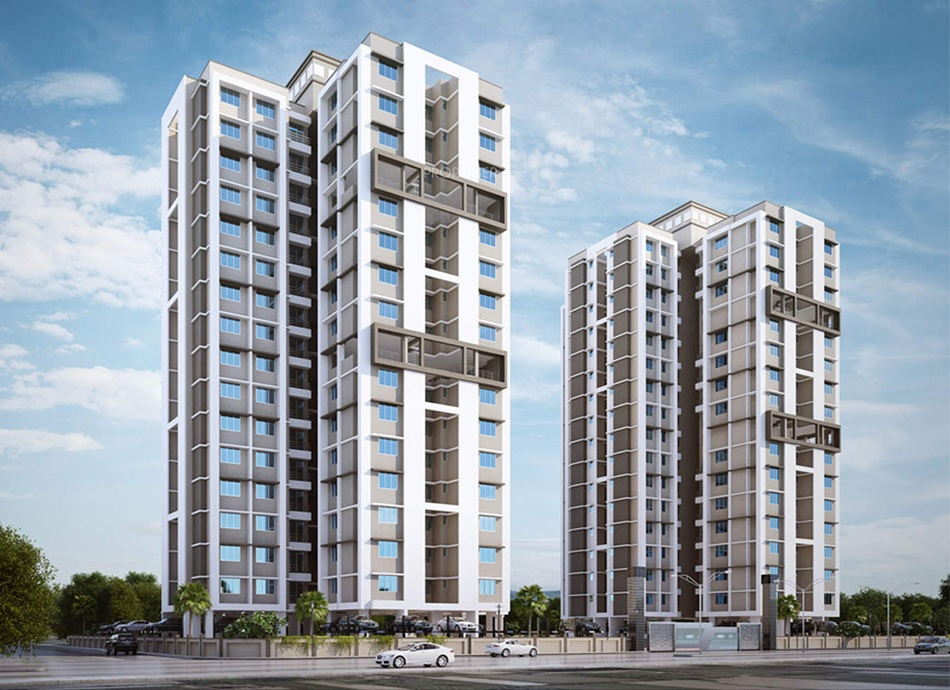 raunak unnathi woods project tower view1