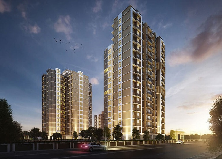 raunak unnathi woods project tower view2
