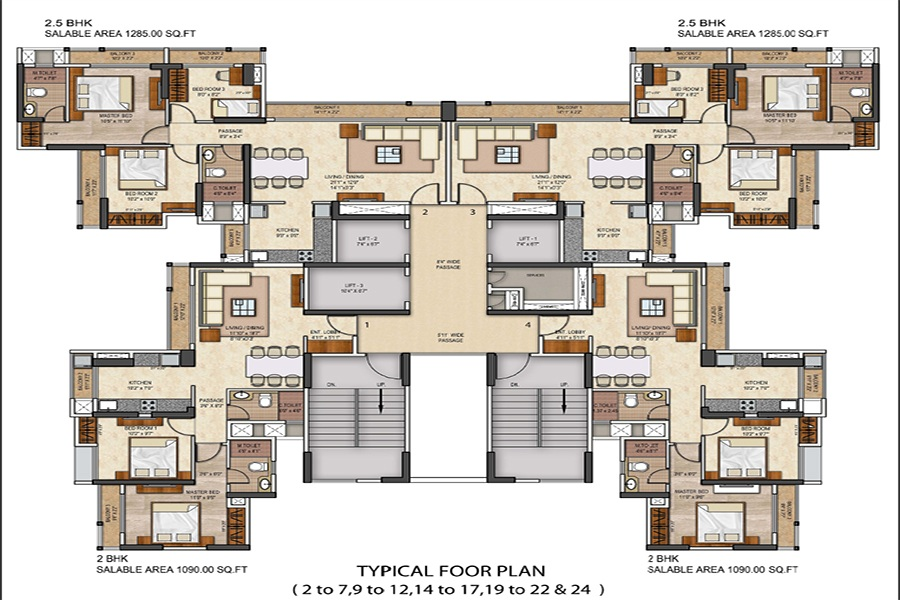 runwal conch project floor plans1
