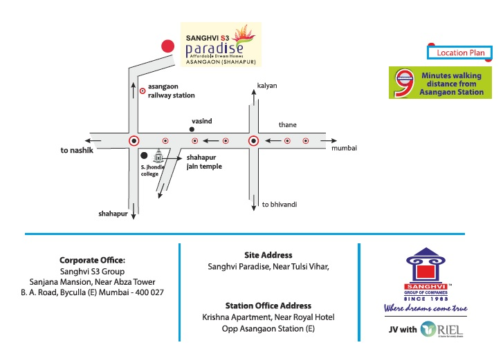 sanghvi paradise project location image1