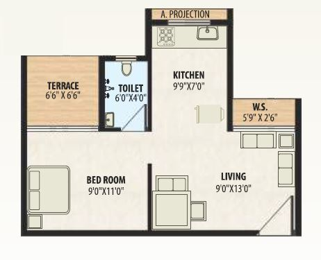 a plus golden corner apartment 1bhk 368sqft 41