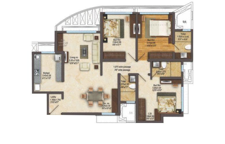 acme ozone apartment 3 bhk 984sqft 20211303111334