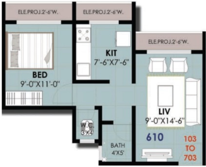 aditya royale apartment 1 bhk 610sqft 20213826103859