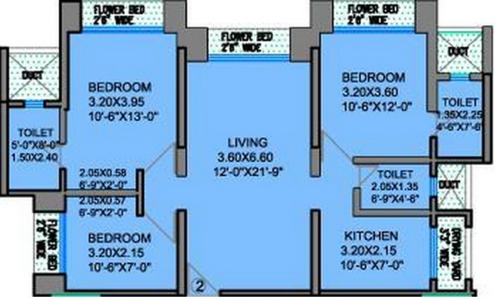 ahuja clubbe life apartment 3 bhk 1260sqft 20205719095744