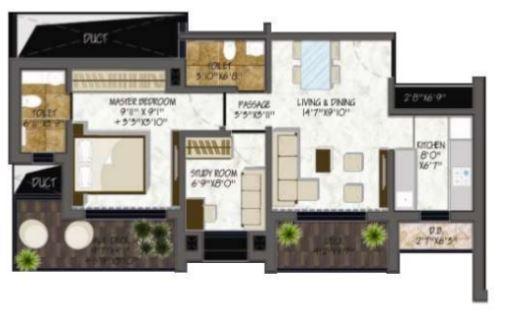 alag abode apartment 1bhk 702sqft31