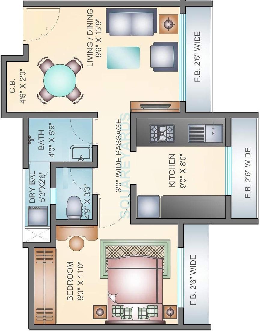 arihant aarohi apartment 1 bhk 884sqft 20212509122540
