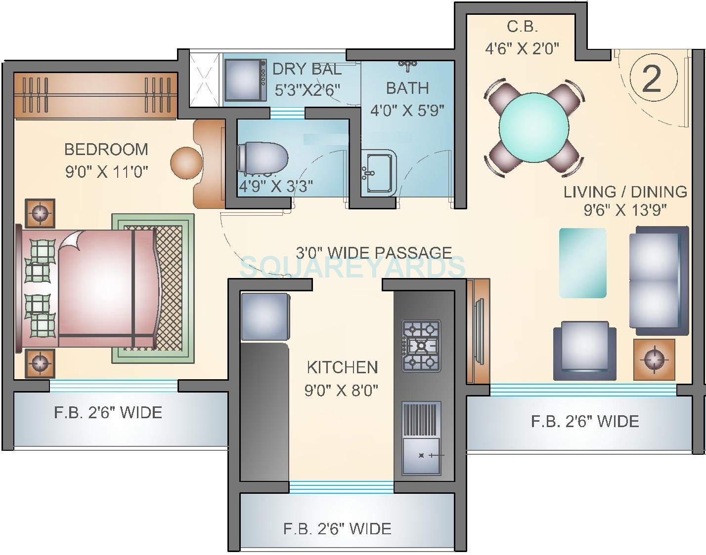 arihant aarohi apartment 1bhk 702sqft1