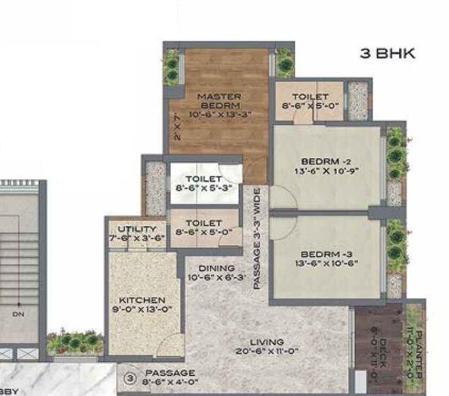 bhimjyani verraton apartment 3bhk 1305sqft31