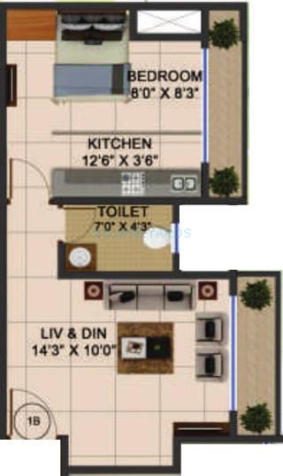 bhoomi acres apartment 1bhk 520sqft1
