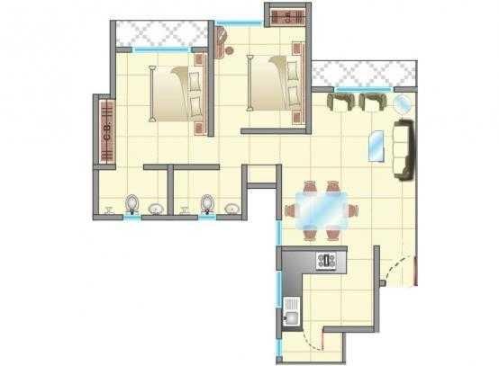 cosmos jewels apartment 2 bhk 2241sqft 20205719075740
