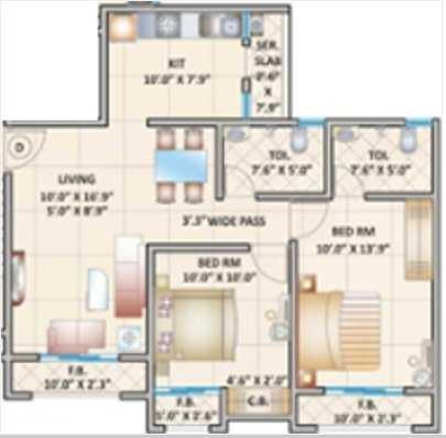 cosmos pride apartment 2 bhk 647sqft 20202419162412