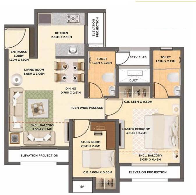 dosti oak apartment 2bhk 486sqft01