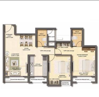 dosti oak apartment 2bhk 575sqft21