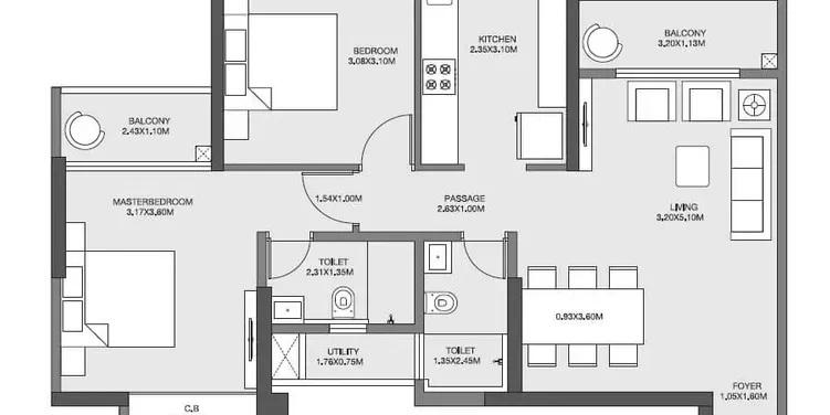 godrej emerald apartment 2bhk 790sqft161