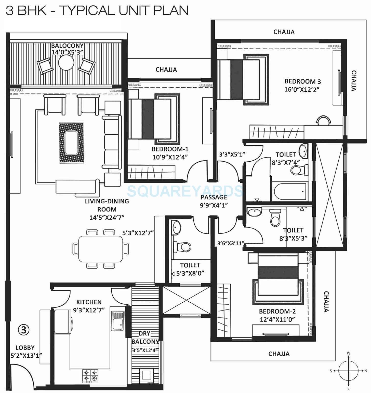 godrej pine apartment 3bhk 1740sqft 1