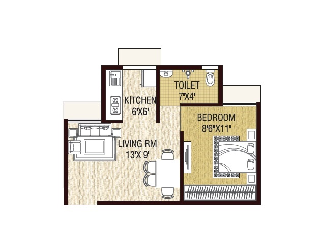 golden vann phase 2 apartment 1 bhk 259sqft 20214315114348