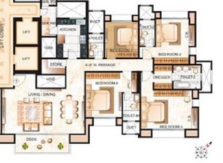 hiranandani eva apartment 4 bhk 2785sqft 20215003145047