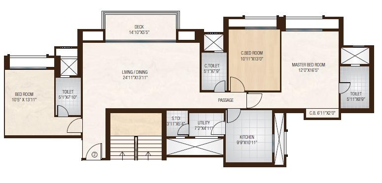 hiranandani park willow crest apartment 3 bhk 1305sqft 20205323145330