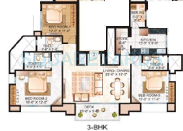 hiranandani rosehill apartment 3 bhk 1995sqft 20200505150549