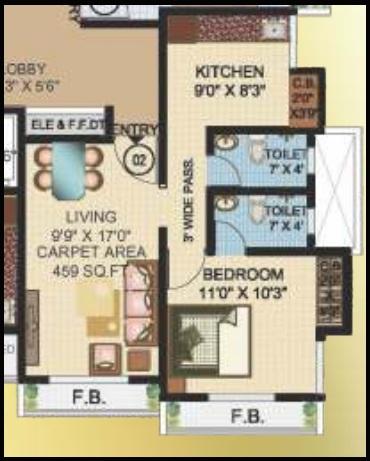 jvm twin tower apartment 1 bhk 708sqft 20200229130231