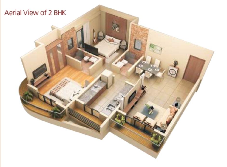 kalpeshwara pinnacle gloria apartment 2 bhk 682sqft 20200809160848