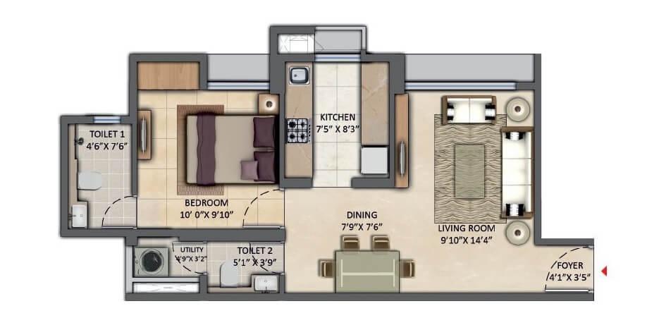 lodha amara apartment 1bhk 472sqft 1