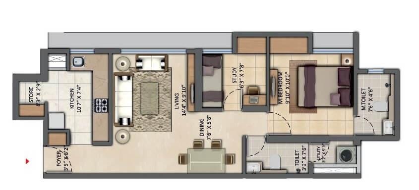 lodha amara tower 32 and 33 apartment 2 bhk 580sqft 20202030162038