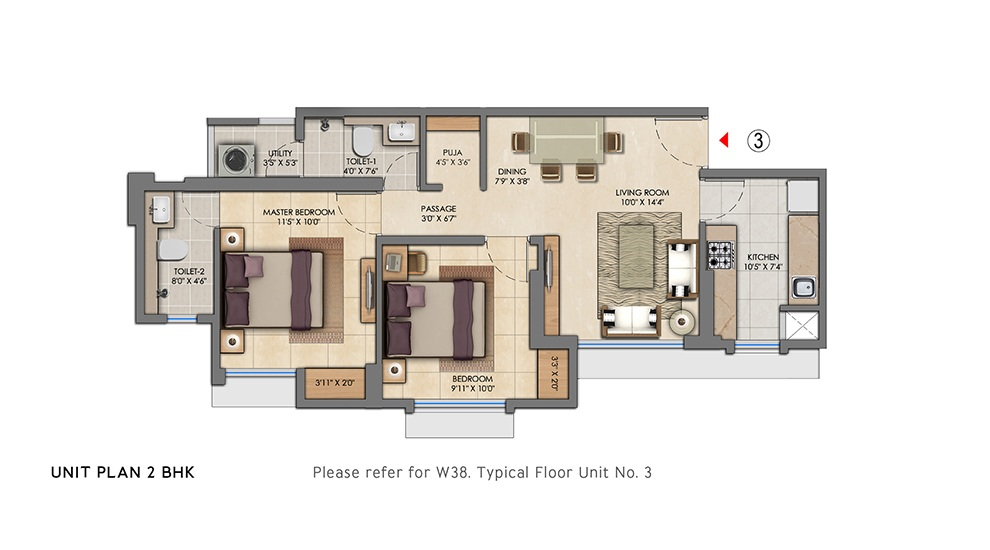 lodha amara tower 38 and 39 apartment 2bhk 626sqft41