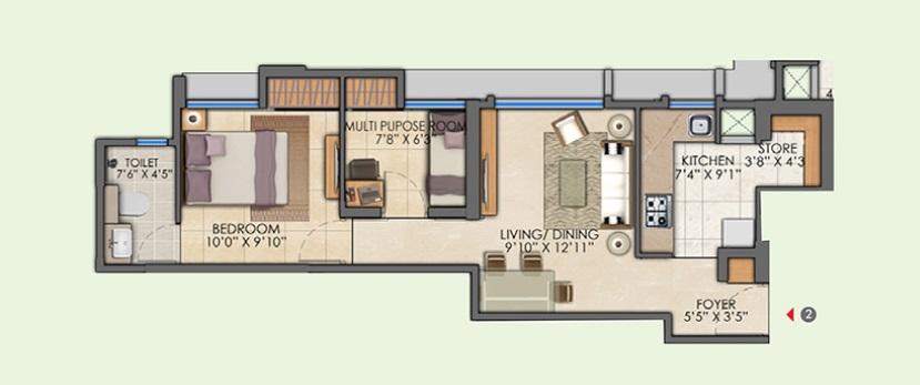 lodha amara tower 44 apartment 1bhk 472sqft01