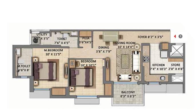 lodha amara tower 6 and 22 apartment 2bhk 637sqft11