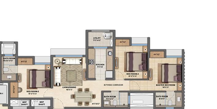 lodha anjur upper thane apartment 3bhk 1013sqft61