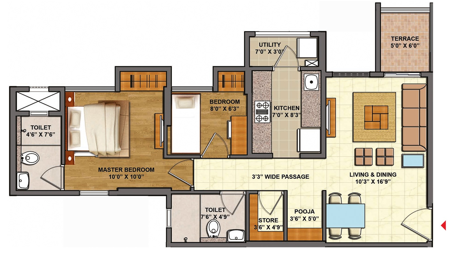 lodha casa urbano apartment 2 bhk 539sqft 20202311122327