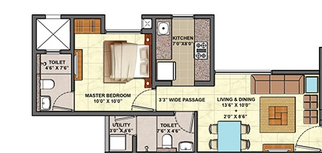 lodha codename celebration apartment 1bhk 443sqft 41
