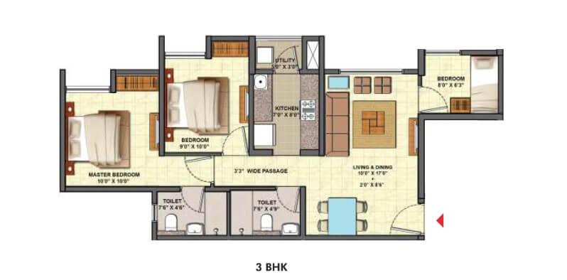 lodha codename golden tomorrow apartment 3bhk 1008sqft 1