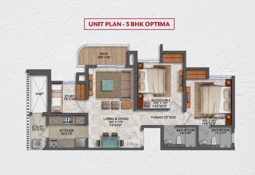 lodha codename smart buy apartment 3bhk 714sqft61