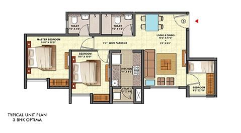 lodha palava aquaville series aurora a and d apartment 3bhk 774sqft11